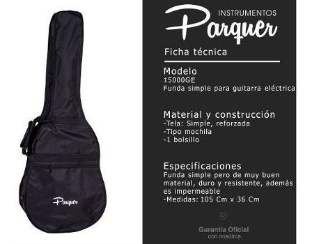 funda simple para guitarra electrica parquer tipo mochila