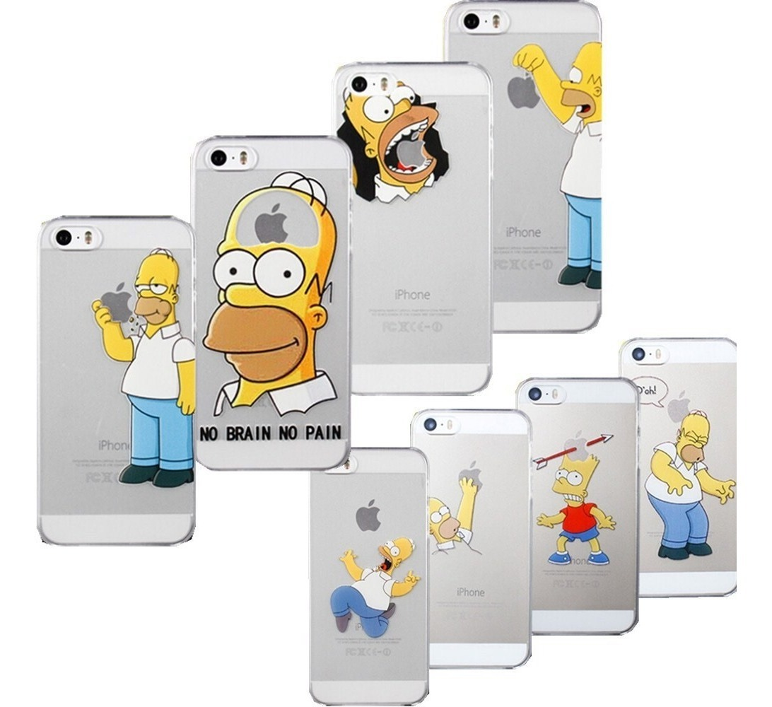Funda iPhone 6 Plus Homer Disparando Transparente