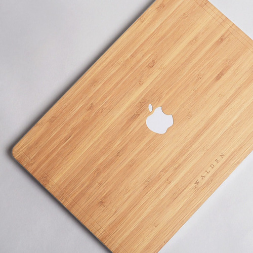 funda skin walden® madera real macbook air / pro / 13 / 15 / retina apple eco classic original