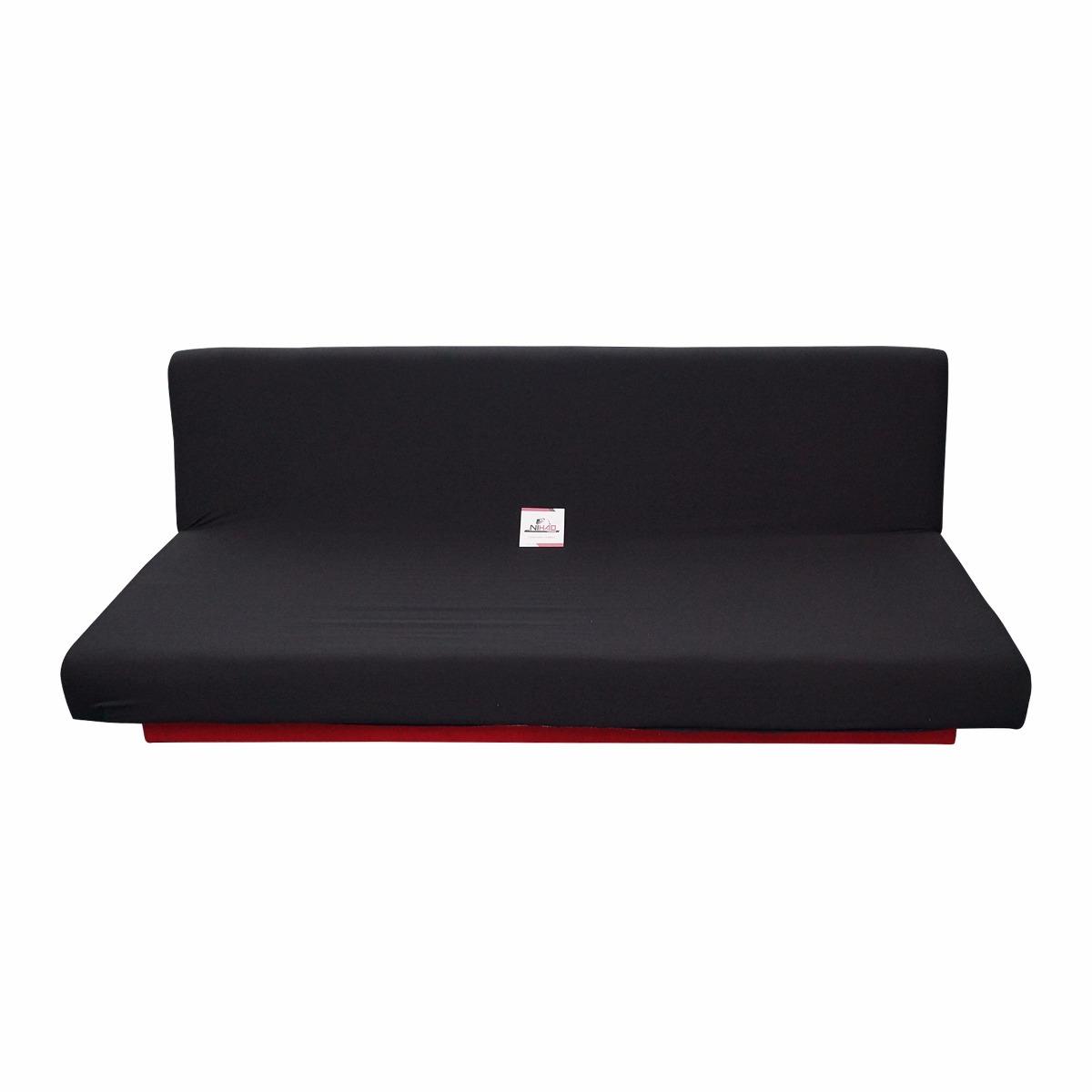 Funda sofa cama negro protector mueble hogar sala descanso for Sofa cama opiniones