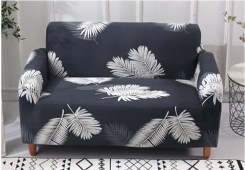 funda sofá estilo pluma negra (3 cuerpos)
