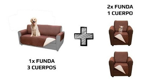 funda sofá sillón de 3 cuerpos + 2  fundas 1 cuerpo