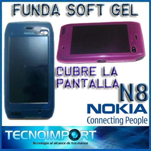 funda soft gel protectora nokia n8 cubre pantalla