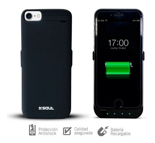 funda soul power case cargador bateria iphone 6 / 6s / 7 / 8