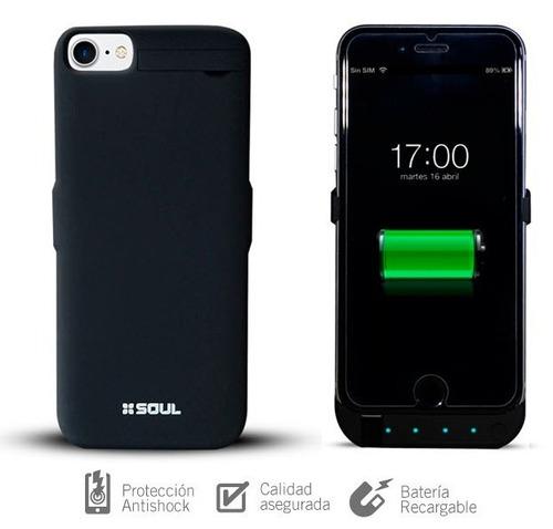 funda soul power case cargador bateria iphone 6 / 7 / 8 plus