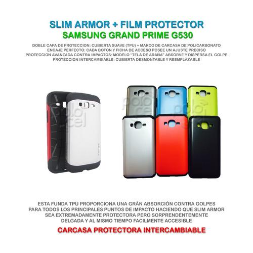 funda spigen armor samsung grand prime g530  + film