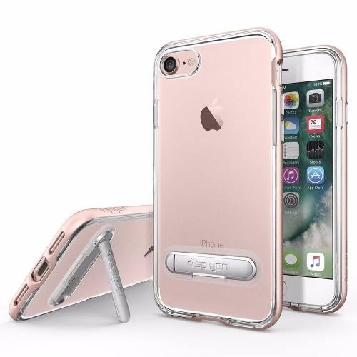funda spigen crystal hybrid iphone 7 - oro rosa