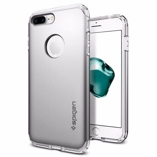 funda spigen hybrid armor iphone 7 plus - plata