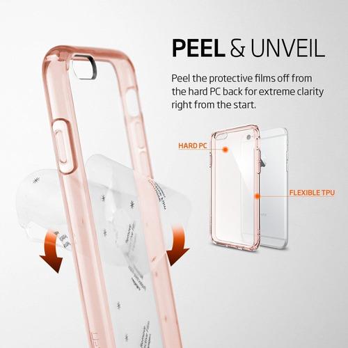 funda spigen iphone 6s 6 plus ultra hybrid air cushion rose
