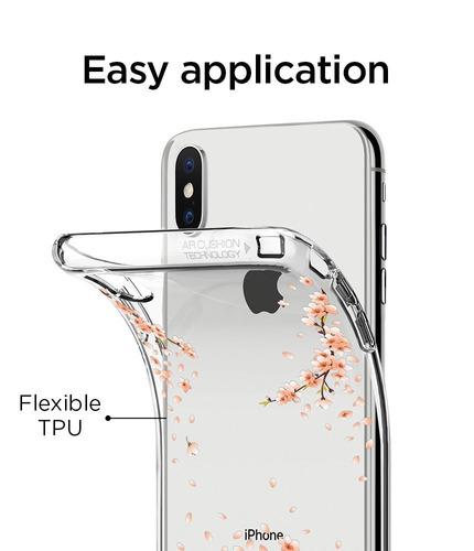 Funda Original SPIGEN Liquid Cristal iPhone X Blossom Nature