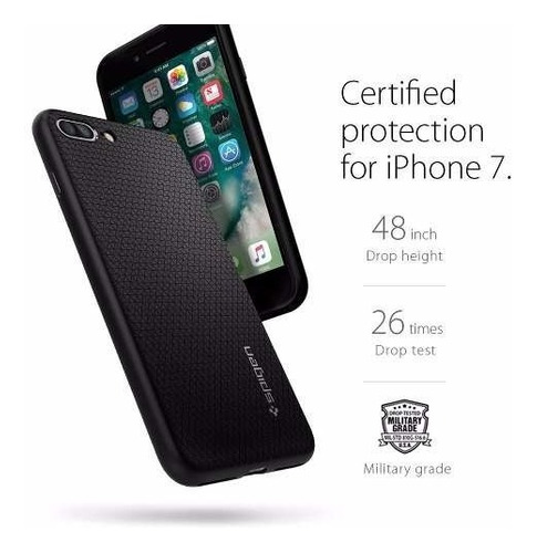 funda spigen liquid armor iphone 7 plus- negro
