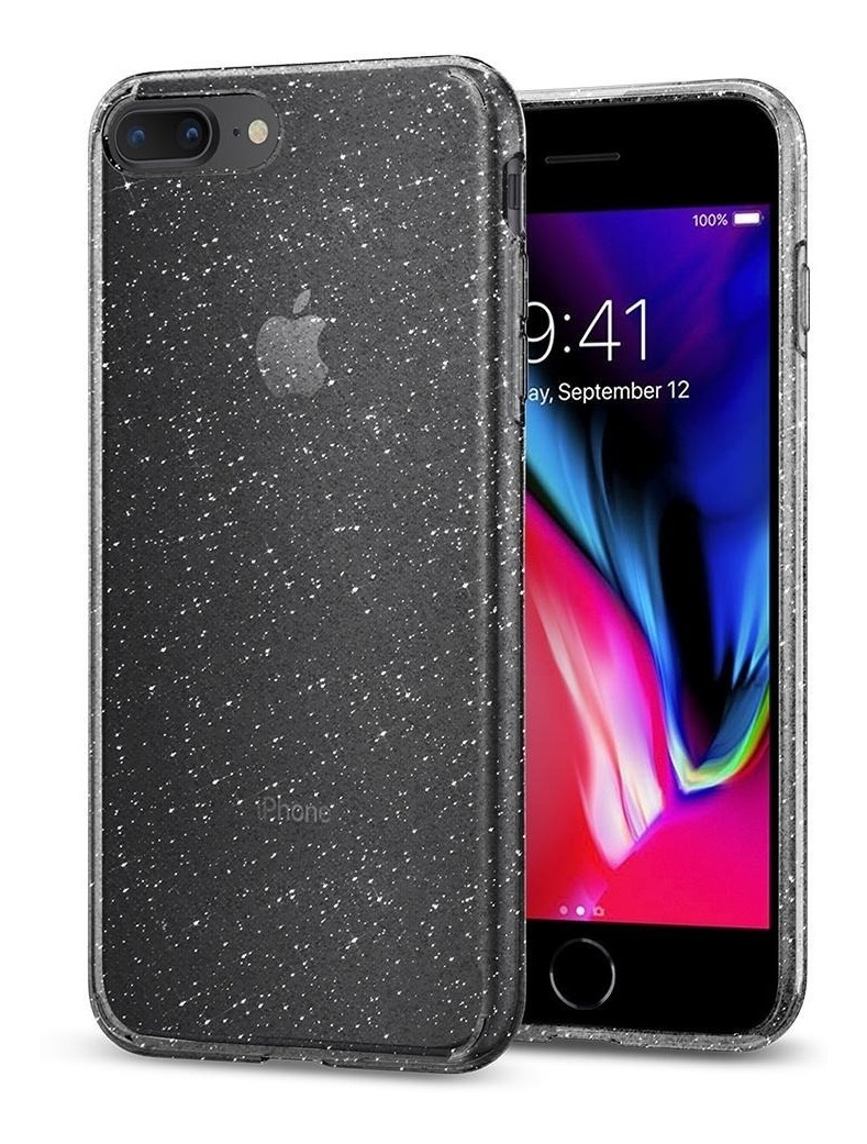 Funda Transparente Liquid Crystal Glitter iPhone 8 Plus Spigen