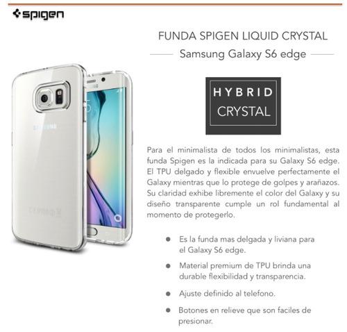 funda spigen liquid hybrid crystal - s6 edge