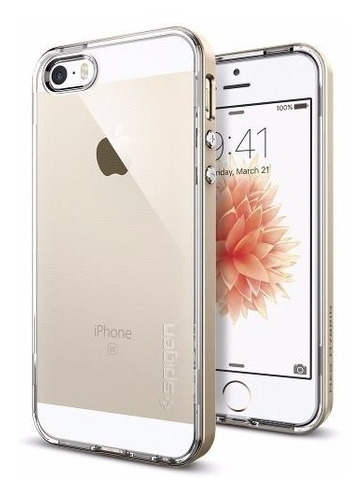 funda spigen neo hybrid crystal iphone 5/5s/se - dorado