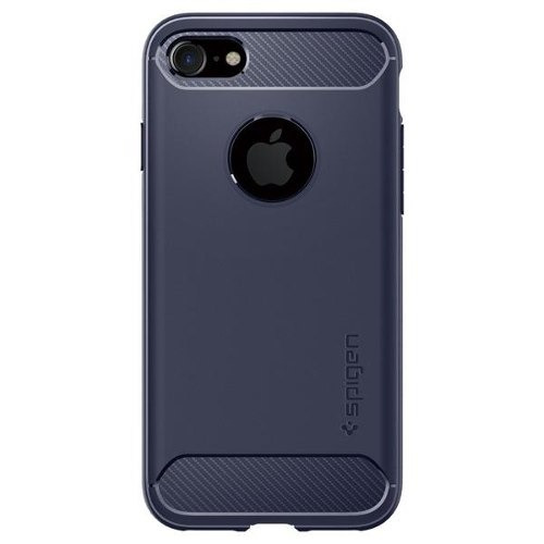 funda spigen rugged armor iphone 7 - midnight blue azul