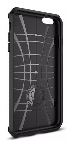 funda spigen rugged armor para 6s plus /6 plus + vidrio