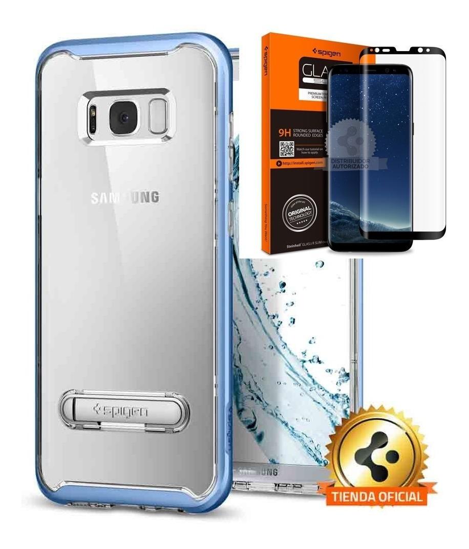 huge discount ea3df ce0cf Funda Spigen Samsung S8 Plus Cristal Hybrid 360 Blue Orig