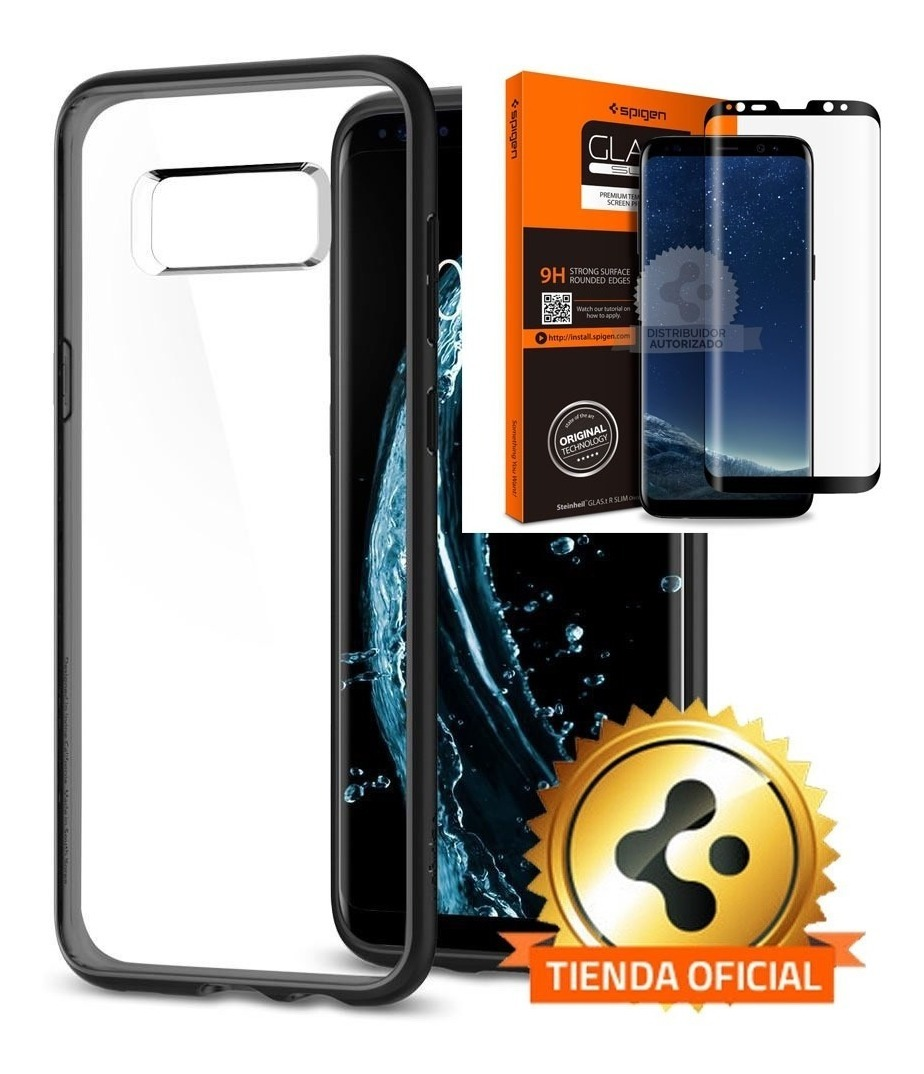 new product 9d468 5a5fb Funda Spigen Samsung S8 Plus Hybrid 360 Black 100% Original
