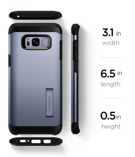 funda spigen samsung s8 plus tough armor orchid gray origina