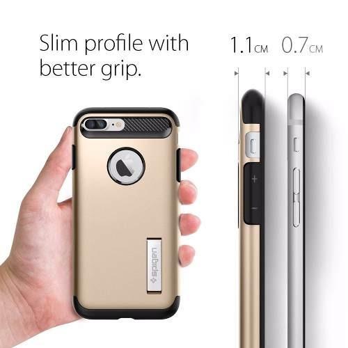 funda spigen slim armor iphone 7 plus - dorado