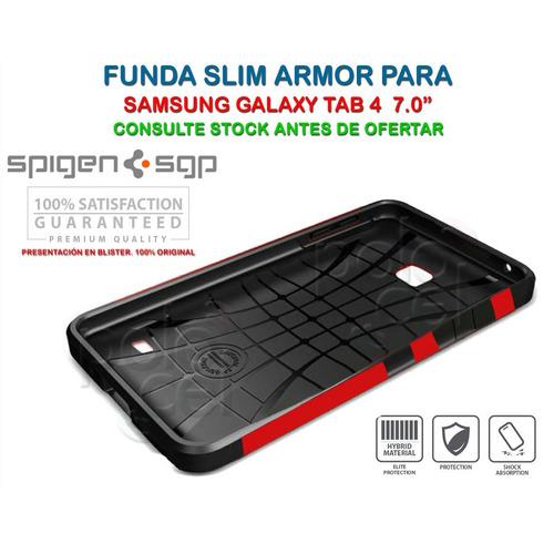 funda spigen slim armor samsung galaxy tab 4 7 t230 + film