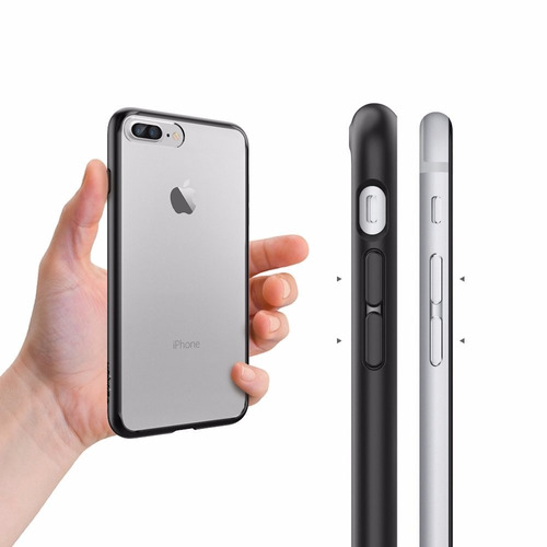 b02388fc3b7 Funda Spigen Ultra Hybrid Para iPhone 7 Plus Original Negra ...