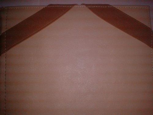 funda tablet 10  eco cuero - abrojo - elastico - royal2002
