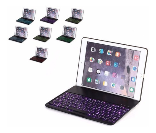 funda teclado bluetooth iluminado ipad pro 9.7 negro