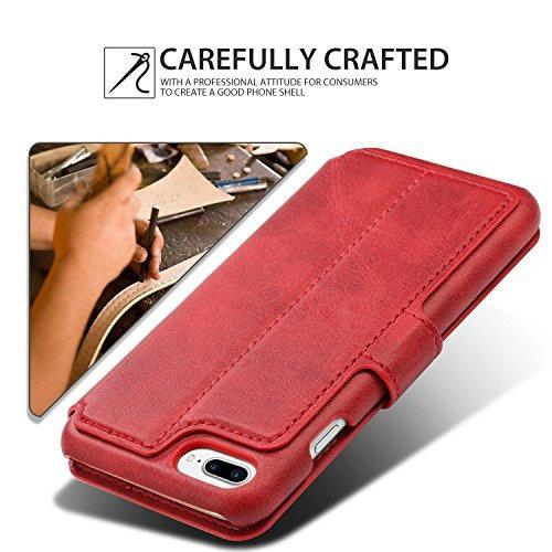 funda tipo billetera pasonomi para iphone 7/8 plus, cuero