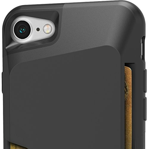 funda tipo billetera silk para iphone 7/8, negro ónix