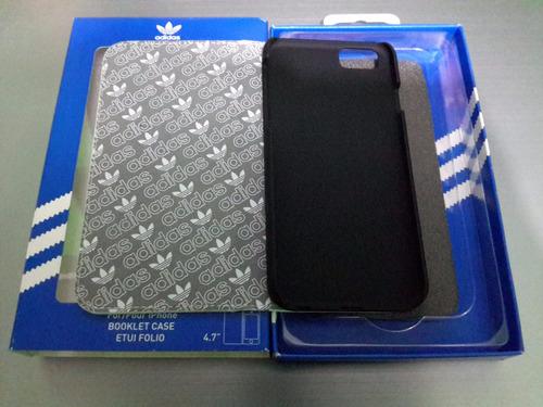 funda tipo cartera adidas, para iphone 6, 6s, 7, 8