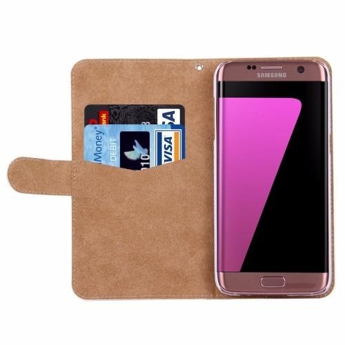 7ab6c06bc Funda Tipo Cartera Pedrería Samsung Galaxy S7 Edge Oso Love ...