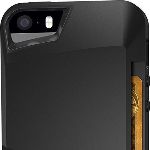 funda tipo cartera vault protectora para iphone 5/s/se negra
