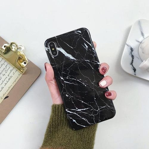 funda tipo marmol para celular xiaomi redmi note 7 mat tpu