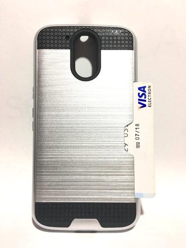 funda  tipo metalico vcard alcatel pixi 4 ot5010 + envio dhl