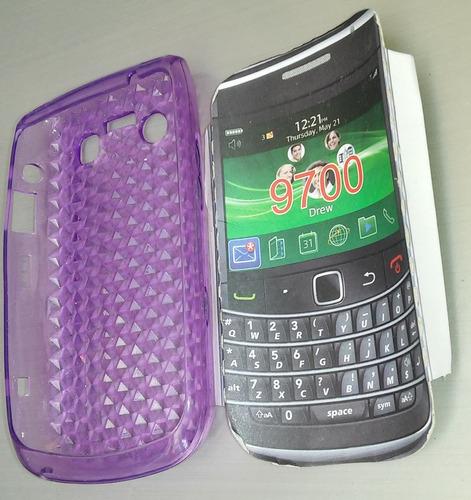 funda tipo silicon  para blackberry 9700
