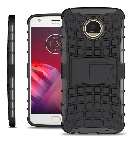 funda tired moto z2 play xt1710 + cristal plano protector