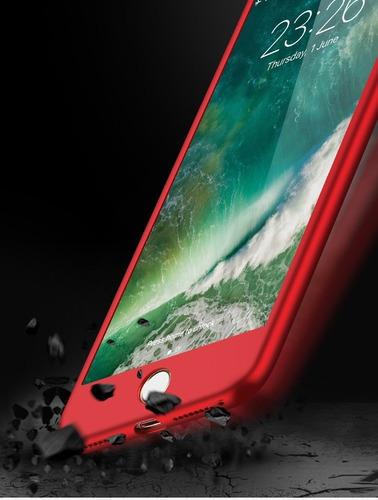 funda tpu 360 antigolpe iphone 6 6s 7 8 plus sin glass