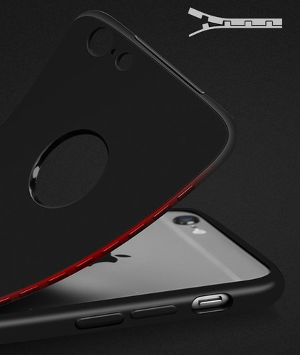 funda tpu 360 antigolpe + vidrio glass iphone 6 6s 7 8 plus