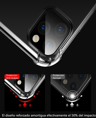 funda tpu antigolpe new iphone 11 / 11p / 11 pro max +vidrio