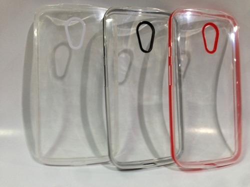 funda tpu crystal motorola moto g2 + vidrio glass moto g2