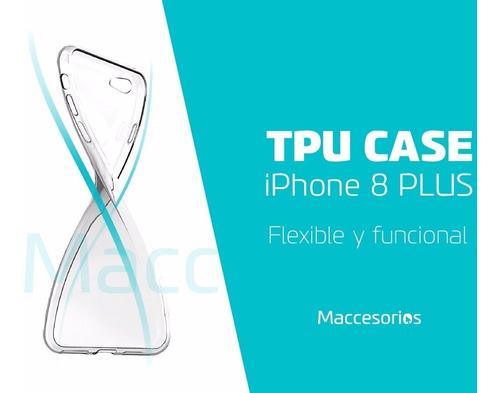 funda tpu iphone 8 / 7 plus + vidrio templado de regalo