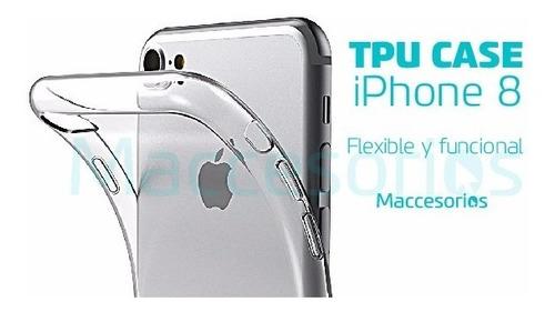 funda tpu iphone 8 / 7 + vidrio templado regalo