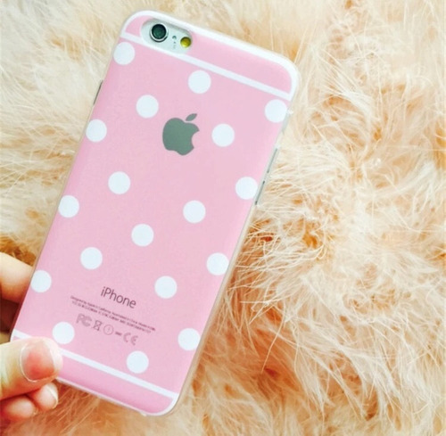 funda tpu logo apple dots iphone 5/5s/se/6/6s/6plus/6splus