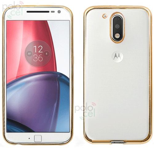 1a82c9e9a10 Funda Tpu Motorola Moto G4 G4 Plus Fina Bordes Metalizados - $ 99,90 ...
