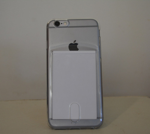 funda tpu transparente iphone 6/6s con guarda tarjeta