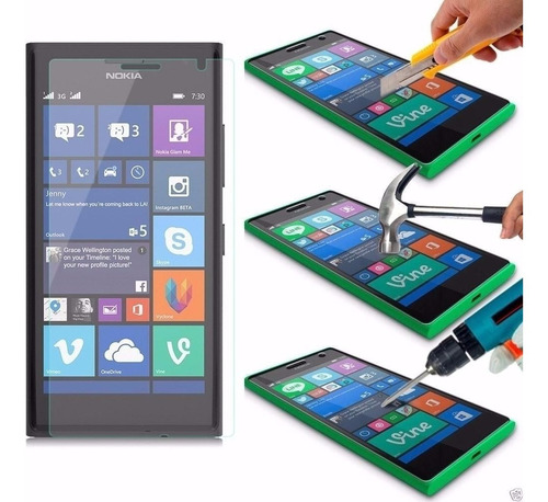 funda tpu + vidrio templado glass nokia microsoft lumia 640