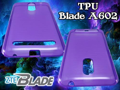 funda tpu zte blade a602 + cristal templado  :)