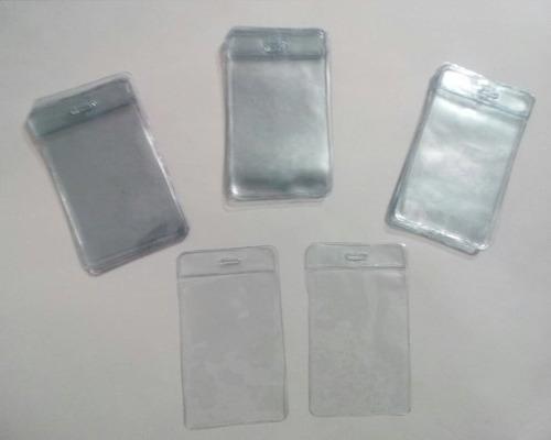 funda transparente porta credenciales 6,7x11 cm 5 unidades