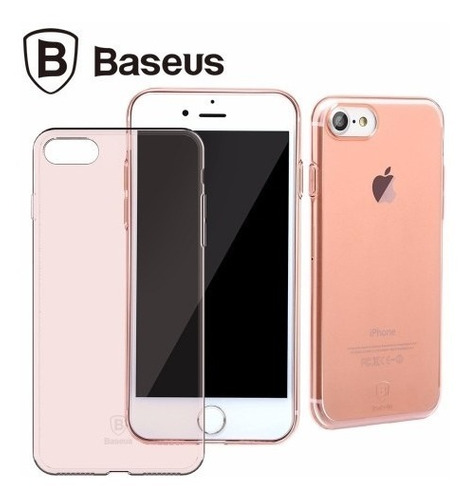 funda ultrafina  baseus iphone 8 & 8 plus + vidrio templado